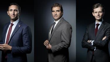 Julien Aubert, Christian Jacob et Guillaume Larrivé, candidats à la présidence de LR