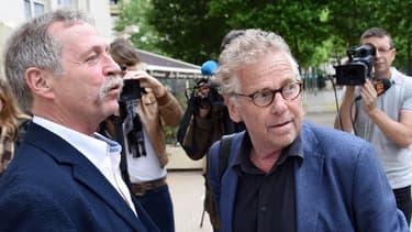 Les europdéputés EELV José Bové et Daniel Cohn-Bendit. Le premier est candidat à la présidence de la Commission européenne, le second a pris sa retraite en 2014