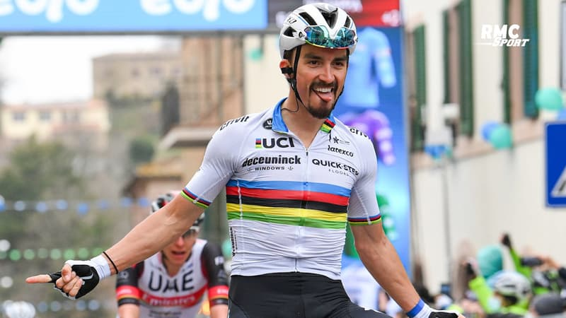 """Tour de France : Alaphilippe veut """"gagner une étape avec le maillot arc-en-ciel"""""""