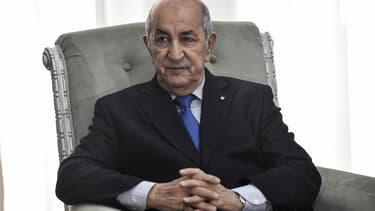 Le président algérien Abdelmadjid Tebboune le 21 janvier 2020 à Alger