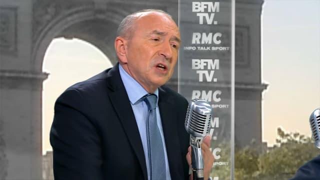 Gérard Collomb, invité de BFMTV lundi 24 avril.