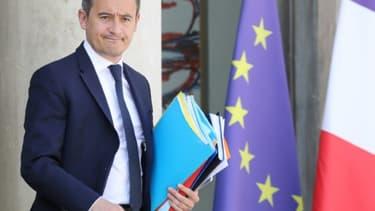 Le ministre des Comptes publics Gérald Darmanin quitte l'Elysée après le conseil des ministres le 29 mai 2019 à Paris