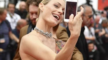 Le mannequin AMber Valetta en mai 2017 au Festival de Cannes.