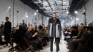 Collection Lanvin lors de la men's Fashion week le 21 janvier 2018.
