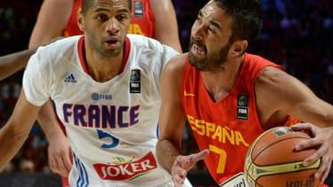 Nicolas Batum face à l'Espagne