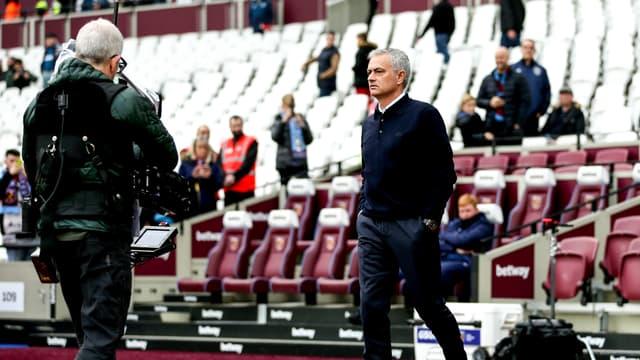 José Mourinho lors de West Ham-Tottenham, le 23 novembre 2019