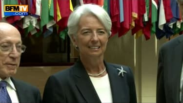 Christine Lagarde, directrice du FMI et ancienne ministre de l'Economie inquiétée dans l'equête sur l'arbitrage financier dans l'affaire Tapie-Crédit Lyonnais