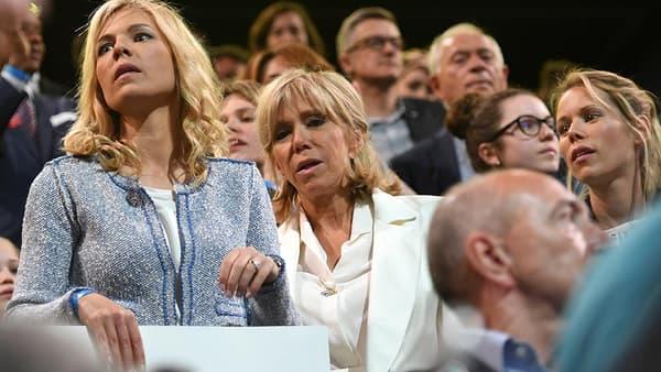 Brigitte Macron entourée de ses filles Tiphaine Auzière et Laurence Auzière-Jourdan.