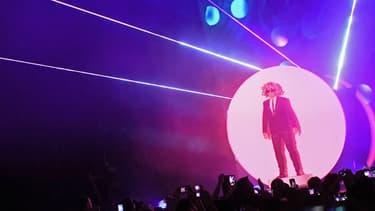 Les Pet Shop Boys lors de leur concert au Madison Square Garden à New York en 2016