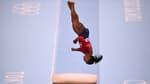 Simone Biles sur le saut de cheval à Toyko