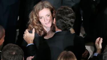 Nathalie Kosciusko-Morizet et Nicolas Sarkozy lors du meeting de NKM en février 2014