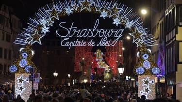 L'ouverture du marché de Noël de Strasbourg, le 25 novembre 2016. -