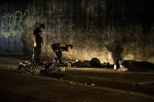 Scène de crime à Manille aux Philippines, le 8 février 2017