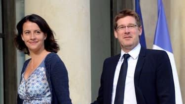 """Cécile Duflot et Pascal Canfin, les deux ministres """"écolos"""" du gouvernement."""