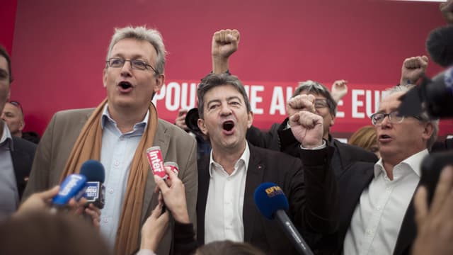 Pierre Laurent (g) et Jean-Luc Mélenchon