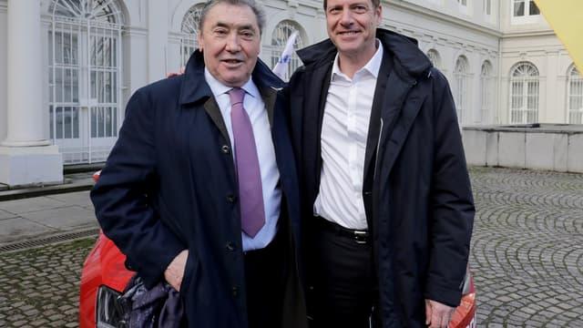 Eddy Merckx et Christian Prudhomme