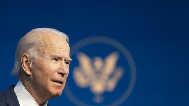 Le président américain Joe Biden lors de la présentation de membres de son équipe sur le climat, le 19 décembre 2020 à Wilmington, Delaware