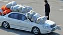 Un employé sud-coréen de Kaesong évacue le complexe