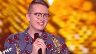 """Antoine Délie, candidat de """"The Voice"""" saison 9, le 18 janvier 2019."""