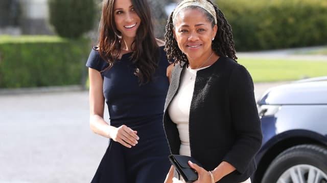 Meghan Markle et sa mère Doria Ragland à la veille du mariage royal, en 2018.
