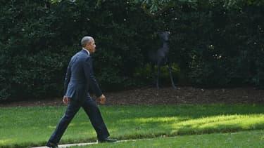 Barack Obama dans le jardin de la Maison Blanche à Washington, le 16 juin 2015.