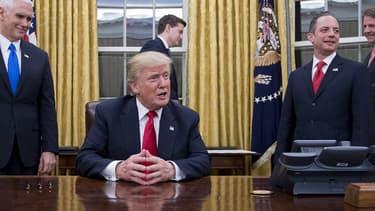 Donald Trump à la Maison blanche.