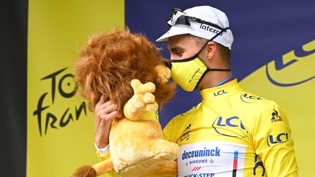 Julian Alaphilippe en jaune sur le Tour de France 2021