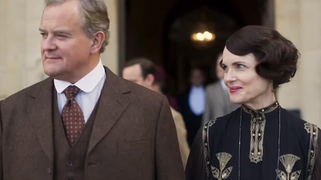 """Hugh Bonneville et Elizabeth McGovern dans le film """"Downton Abbey""""."""