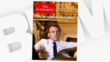 """Emmanuel Macron à la une du magazine """"The Economist"""", le 7 novembre 2019."""