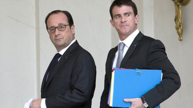 François Hollande et Manuel Valls, le 22 décembre, à l'Elysée.