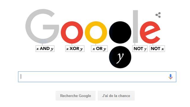 George Boole, père de l'algèbre de Boole, célébré par un doodle Google