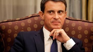 Le Premier ministre Manuel Valls en visite à Riyad le 13 octobre 2015.