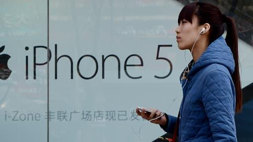 Apple a vendu 44 millions d'iPhone au deuxième trimestre 2014, en grande partie grâce à sa croissance en Chine.