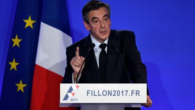 François Fillon lors de sa conférence de presse, le 6 février 2017