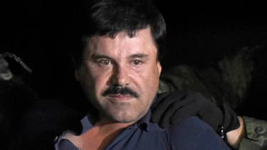 """Joaquin """"El Chapo"""" Guzman le jour de son arrestation, le 8 janvier 2016."""