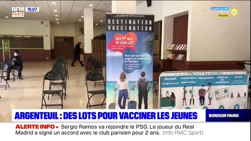 Argenteuil: des lots de tombola pour vacciner les jeunes