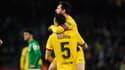 Sergio Busquets et Lionel Messi, à Séville le 9 février 2020