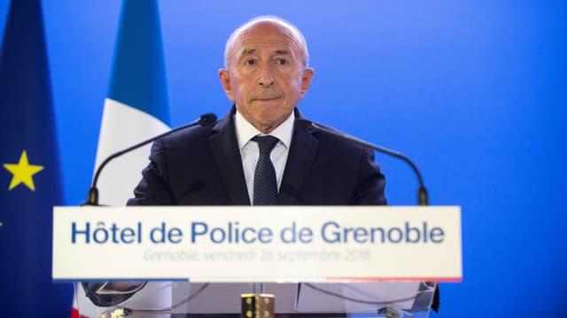 Gérard Collomb à l'hôtel de police de Grenoble le 28 septembre