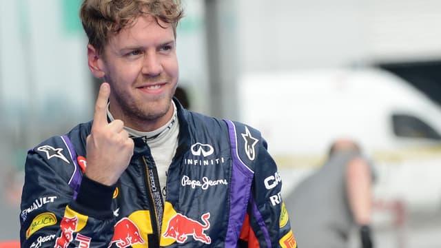 Sebastian Vettel, vainqueur du Grand Prix de Belgique
