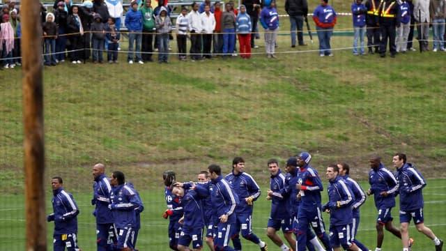 L'équipe de France a effectué son premier entraînement public