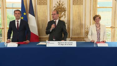 Signature des accords du Ségur de la Santé le 13 juillet 2020