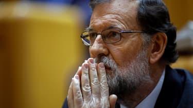 Le Premier ministre espagnol Mariano Rajoy, le 27 octobre 2017 à Madrid, lors de la session du Sénat.