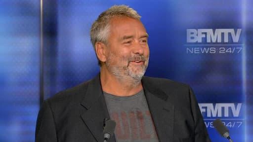 Le réalisateur Luc Besson, sur le plateau de BFMTV, le 5 août 2014.