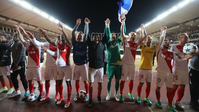 La joie des Monégasques après la qualification face à Dortmund