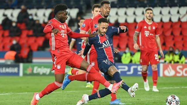 Neymar lors de PSG-Bayern, le 13 avril 2021