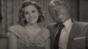 """Elizabeth Olsen et Paul Bettany dans la bande-annonce de """"WandaVision"""""""