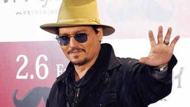 """Johnny Depp au Japon, fin janvier 2015, pour la promotion du film """"Mortdecai"""""""