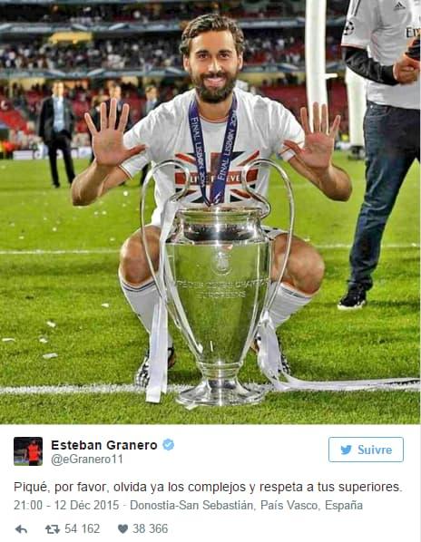 Tweet d'Esteban Granero
