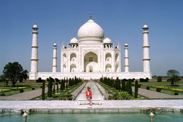 Diana au Taj Mahal en février 1992