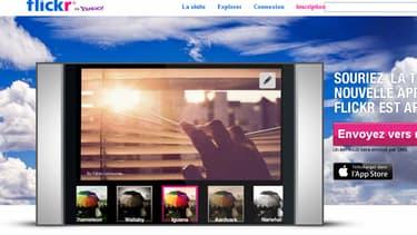 capture d'écran du site de partage de photos FlickR